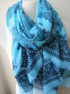 large blue paisley