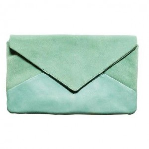 pale turquoise clutch