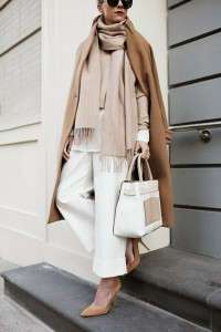 TAN coat with neutrals