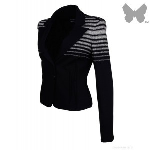 cheap-isabel-de-pedro-ladies-short-striped-jacket---blackcream-_2_