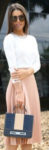 pleated blush zara