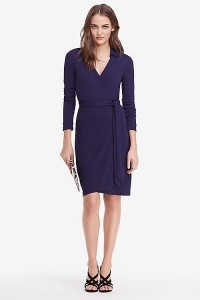 dvf wrap navy