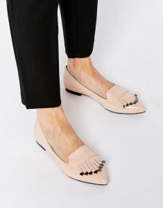 blush flats with trim