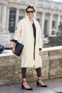 Paris Fashionweek ss2015 day 2, Garance Doré, nili lotan coat