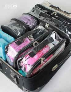 organised suitcase