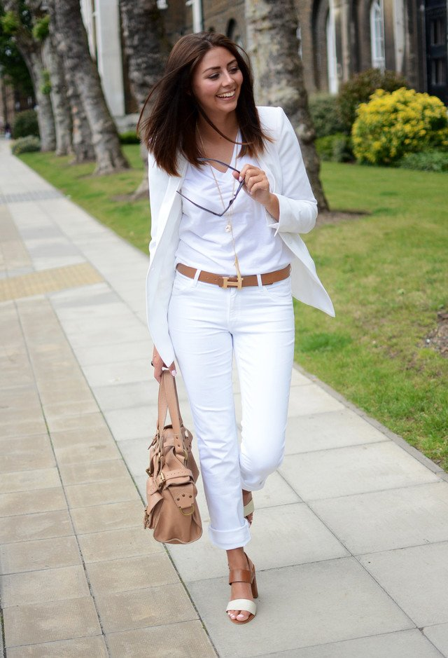 Brenda Kilgallon The wonder of white jeans