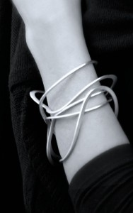 silver squiggle bangle