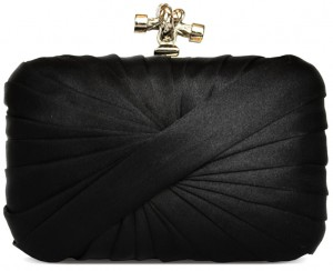 Blk silk clutch