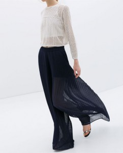 pleated trousers zara