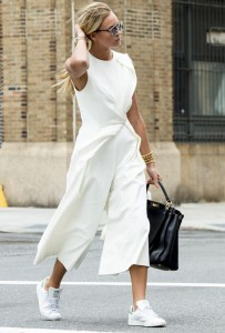 white jumpsuit sneakers