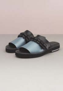 finery blue blk slides